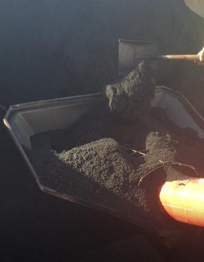 Loading bulk FarmChar biochar